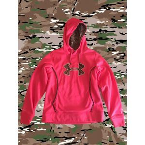 Under Armour Pink Camo Long Sleeve Womens Hoodie M